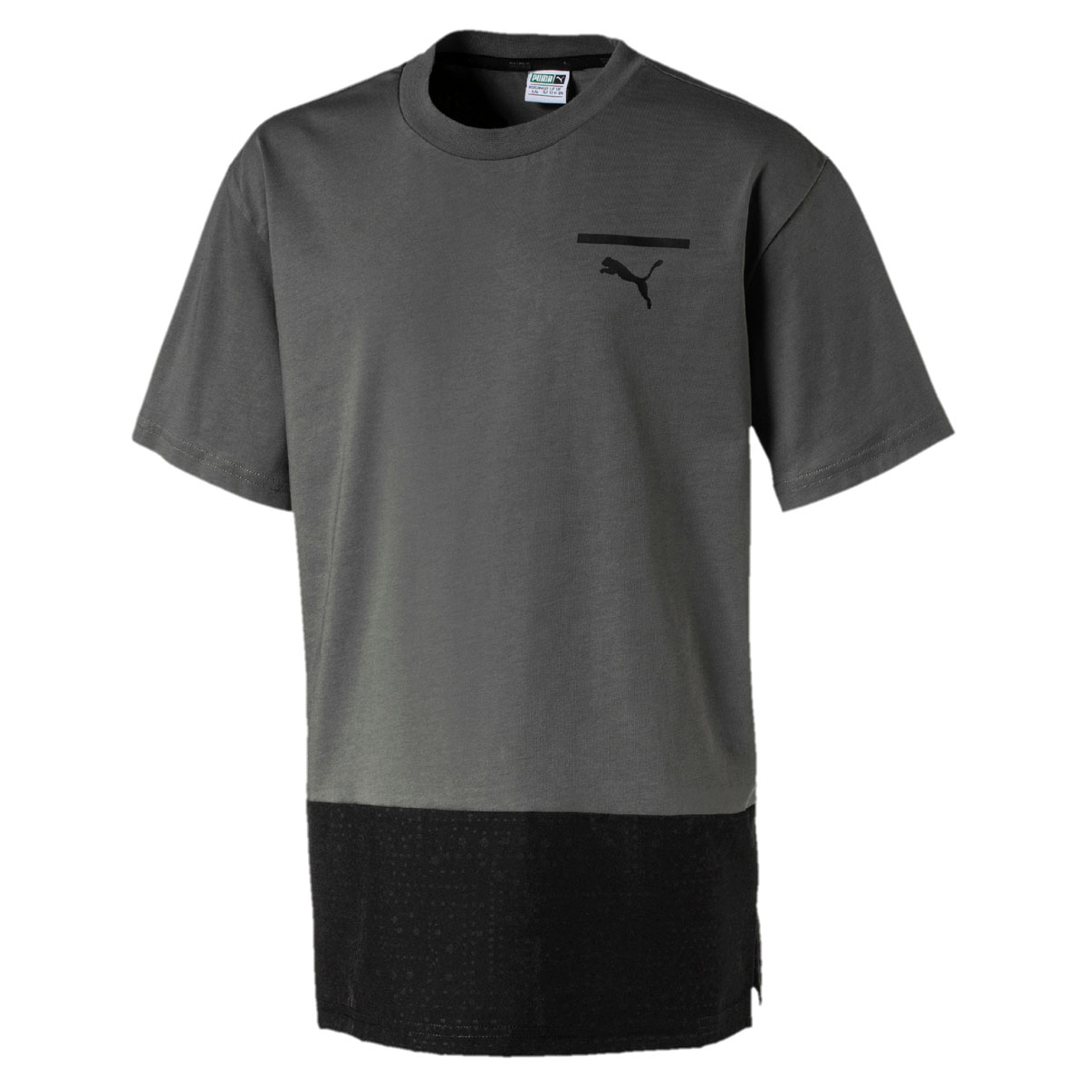 Футболка для мальчика Puma Pace Tee, цвет: серый, черный. 850245397. Размер 152