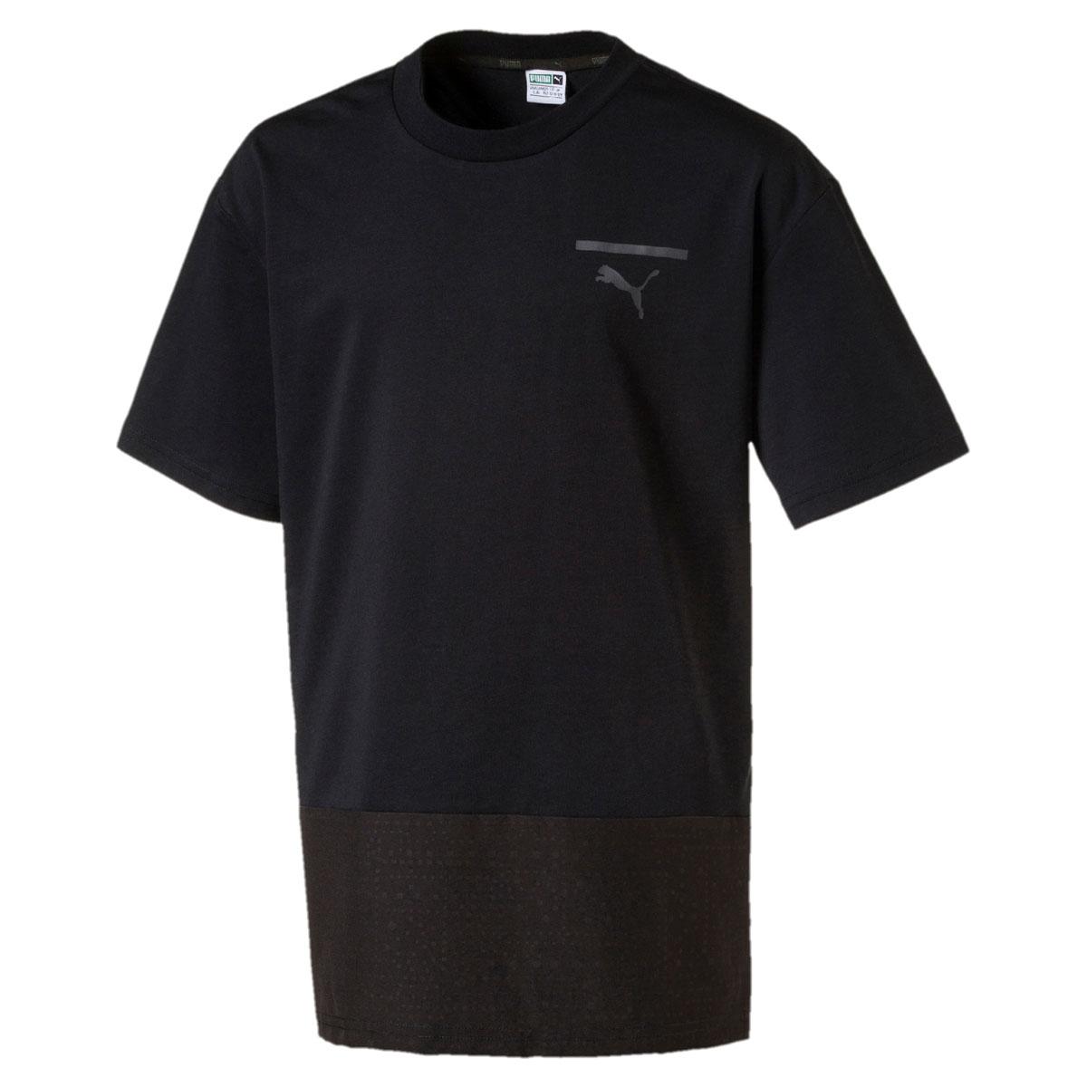 Футболка для мальчика Puma Pace Tee, цвет: черный. 850245017. Размер 164 футболка женская puma heather cat tee цвет черный 51641001 размер l 46 48
