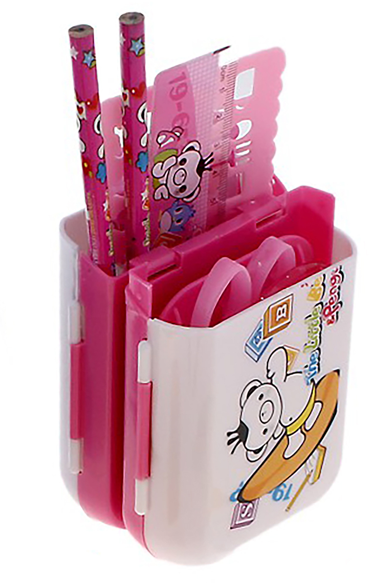 Канцелярский набор Пенал-транформер цвет розовый 7 предметов 679330679330Изделия данной категории необходимы любому человеку независимо от рода его деятельности. Канцелярский набор поможет организовать ваше рабочее пространство и время. Востребованные предметы в удобной упаковке будут всегда под рукой в нужный момент.В набор входит: 2каранд чгр, лин, ножн, точил, подставка, траф