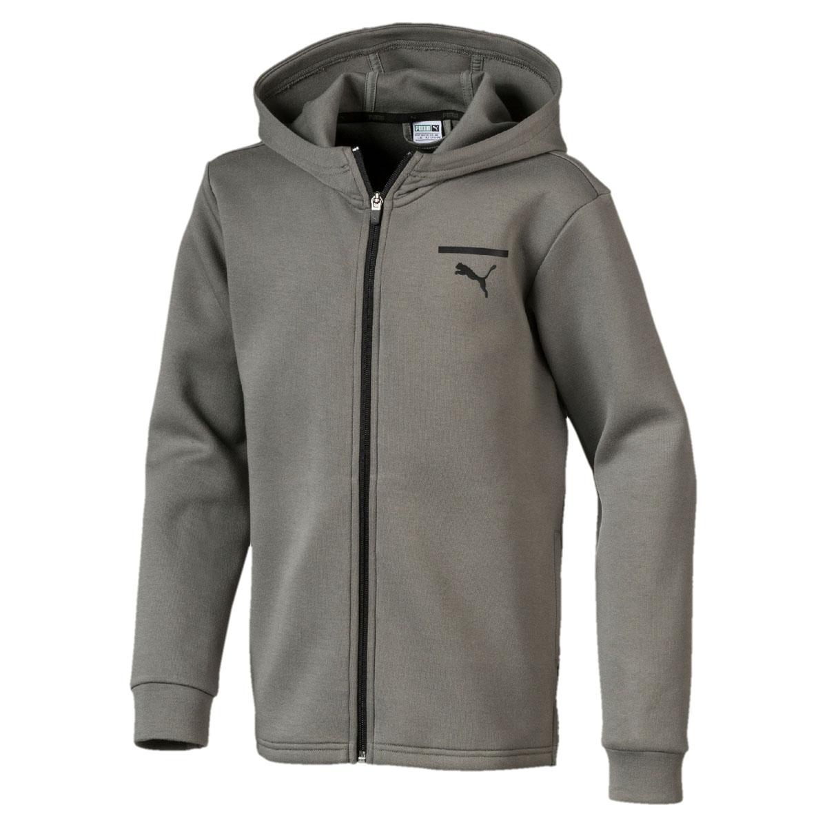 Толстовка для мальчика Puma Pace FZ Hoody, цвет: серый. 850247397. Размер 164 original new arrival 2018 puma pace primary fz hoody men s jacket sportswear