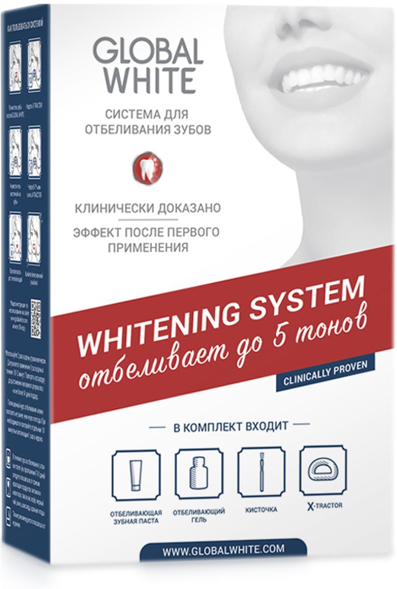 Global White Система для интенсивного отбеливания зубов (отбеливающий гель 15мл + отбеливающая зубная паста 30 мл)