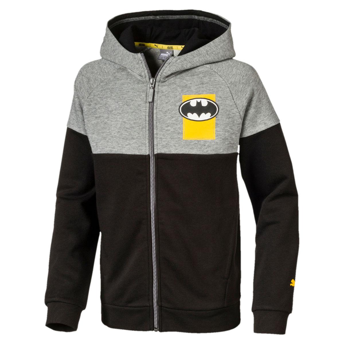 Толстовка для мальчика Puma Justice League Jacket, цвет: черный, серый. 850269017. Размер 128