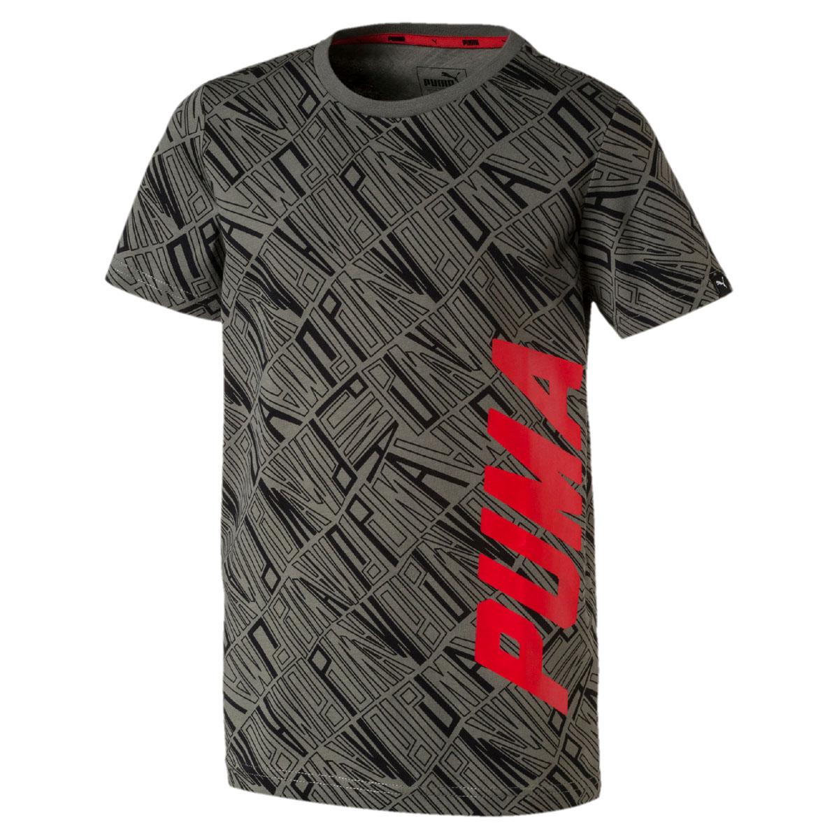 Футболка для мальчика Puma Style Graphic Tee AOP, цвет: серый. 850634397. Размер 152 two tone graphic printed tee