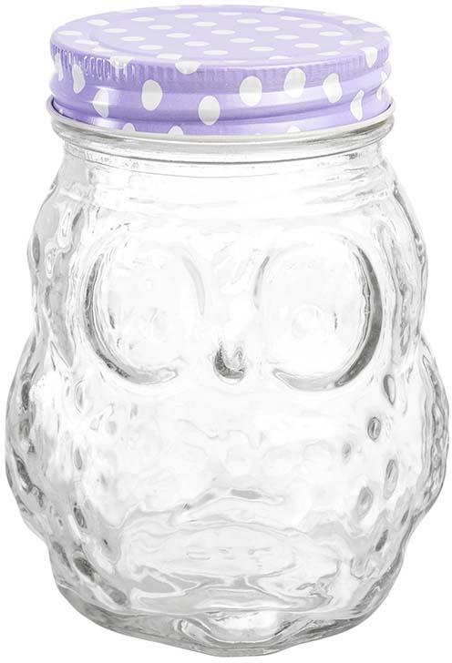 Банка для хранения объемом 470 мл выполнена из качественного стекла с рельефным рисунком и формой совы станет незаменимым помощником в хранении продуктов! Банка плотно закрывается жестяной крышкой разных цветов, что поможет различить содержимое банок и добавит на вашу кухню цвета и яркости. Банка прекрасно подойдет для хранения специй, чая, кофе и любых других сыпучих продуктов. Также в банке можно хранить варенье, мед, орехи и любые другие продукты. А яркая упаковка делает эту банку прекрасным полезным подарком. В коллекции банок из стекла с жестяными крышками также представлены банки для хранения различных размеров и форм, кружки для коктейлей с трубочками и банки с металлическими защелками - вы сможете эстетично и удобно разместить все необходимое на вашей кухне собрав набор из необходимых вам предметов.