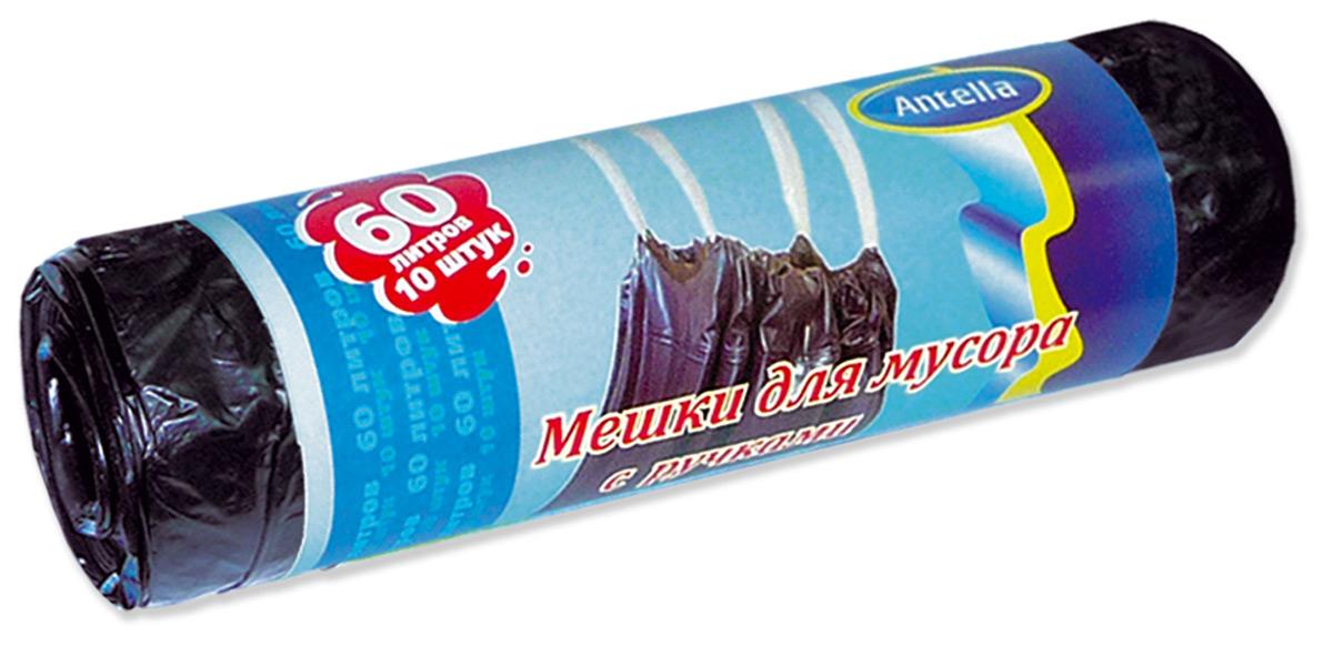 Мешки для мусора Antella, с ручками, цвет: голубой, 60 л, 10 шт70493Мешки для мусора Antella предназначены для сбора и упаковки бытовых отходов. Мешки для мусора с ручками особо удобны в использовании и переноске.