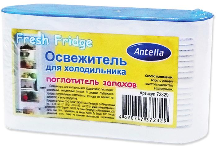 Освежитель для холодильника Antella эффективно поглощает различные неприятные запахи.  В составе содержатся только натуральные компоненты, которые не влияют на качество и вкус продуктов.  Способ применения: вскрыть упаковку, поместить освежитель в холодильник.