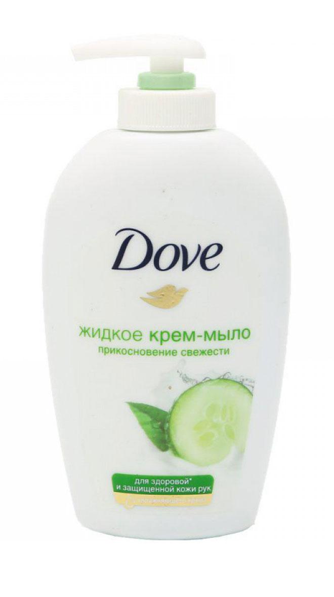 Dove Жидкое крем-мыло Прикосновение свежести 250 мл dove крем мыло прикосновение свежести 135 гр