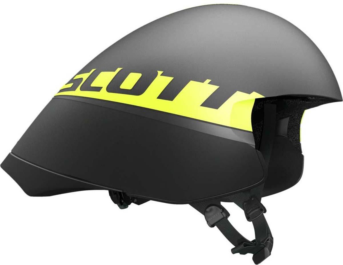 """Шлем защитный Scott """"Split"""", цвет: черный, желтый. Размер M (55-59)"""