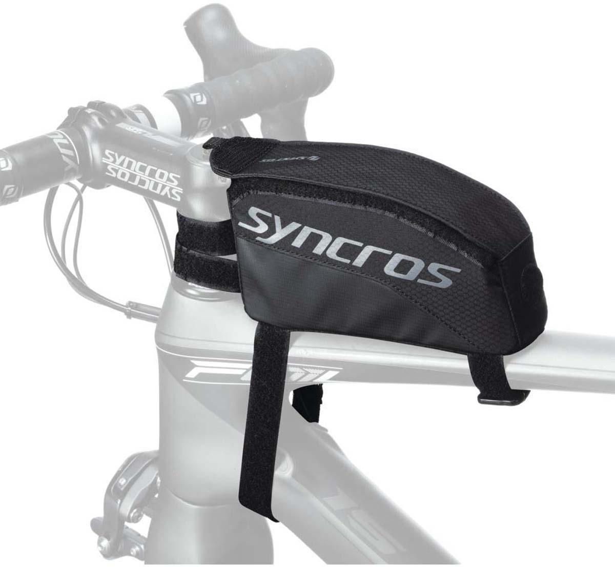 Велосумка на раму Syncros Frame Nutrition, цвет: черный, серый, 18 х 4 х 8 см233731Нарамная сумка Syncros Frame Nutrition (черно-серая) крепится эластичными ремешками на верхнюю трубу в районе рулевого стакана. Можно открыть одной рукой благодаря продуманной системе открывания. Дополнительный ремешок не дает сумке сползать с рамы.Особенности Syncros Frame Nutrition: - Система открывания одной рукой. - Внутренняя фиксация для инструмента. - Размеры: длина 18 см, высота 8 см х ширина 4 см.