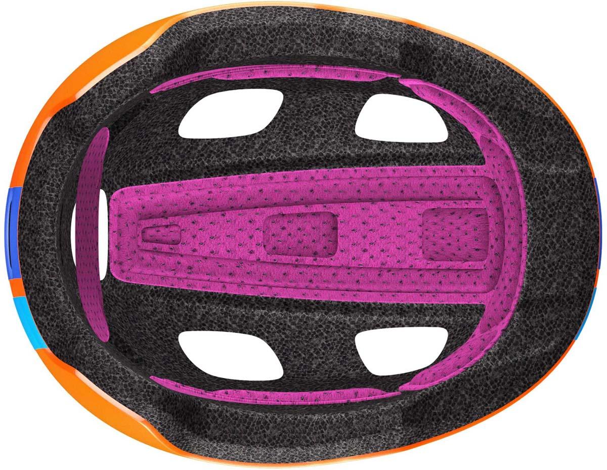 Главной особенностью нового детского шлема Scott Chomp 2 является повышенный уровень безопасности (пассивной и активной) и дополнительный комфорт. Задний мигающий фонарь позволит обезопасить ребенка в сумерках, передние рефлекторы ярко отражают встречный свет. Дополнительный мягкий материал для охвата головы и более комфортная система уплотнений вместе сделают все возможное для максимально безопасного катания на велосипеде. Добавьте к этому яркие и веселые расцветки, низкий профиль задней части для поездок в специальном детском сиденье, легко регулируемую систему подгонки RAS2 и вы получите превосходный детский шлем по очень привлекательной цене.  Особенности Scott Chomp 2: - технология In-Mold (прессованный пенопласт, амортизирующий удар); - технология PC Micro Shell (поликарбонат); - система подгонки RAS2; - задний мигающий фонарь; - светоотражающие наклейки спереди; - дополнительная защита головы; - вес 230 г (примерный); - размеры: один размер; - для окружности головы 46-52 см; - в среднем, для возраста от 3 до 9 лет.
