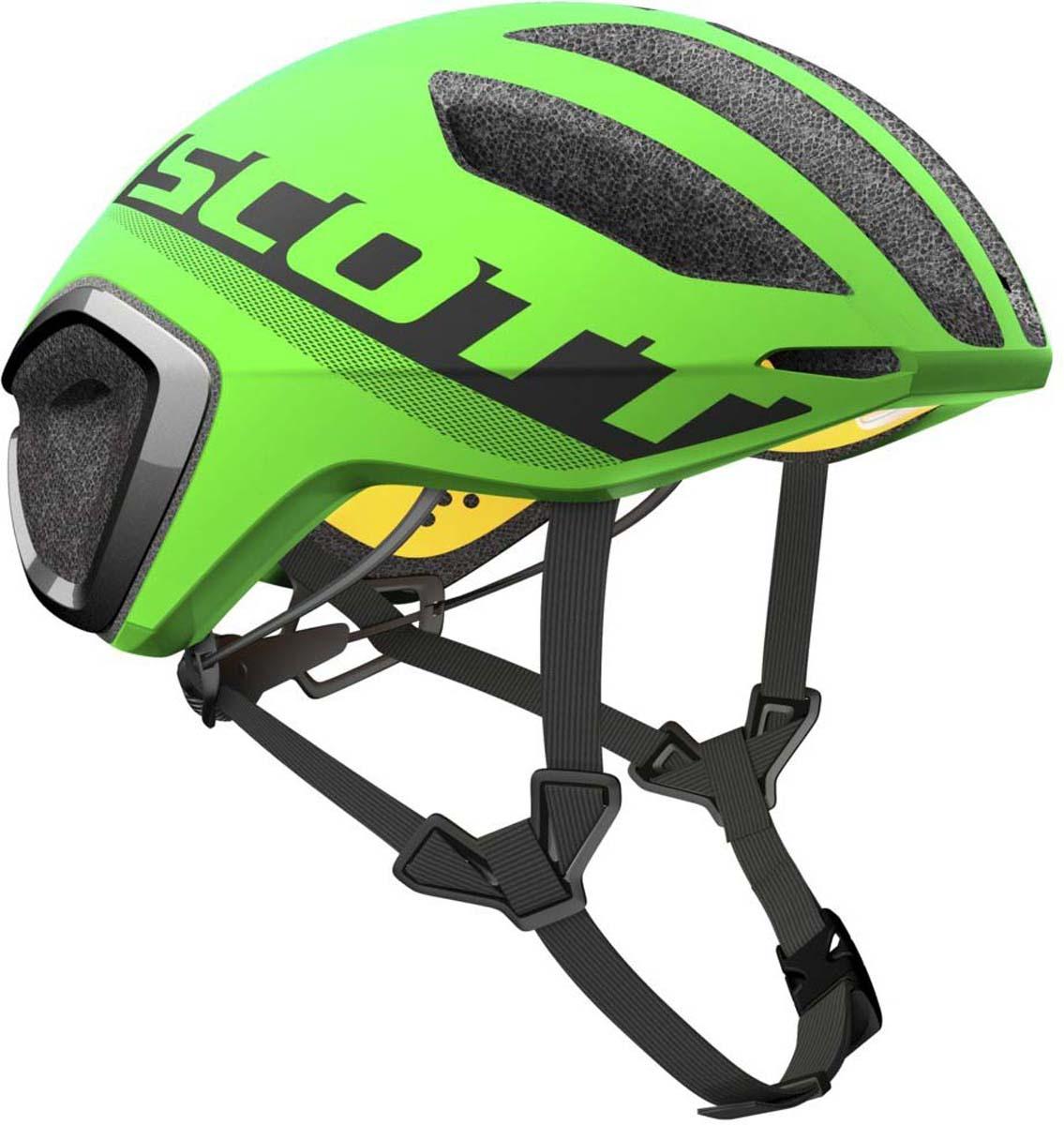Шлем защитный Scott Cadence Plus, цвет: зеленый, черный. Размер L (59-61)