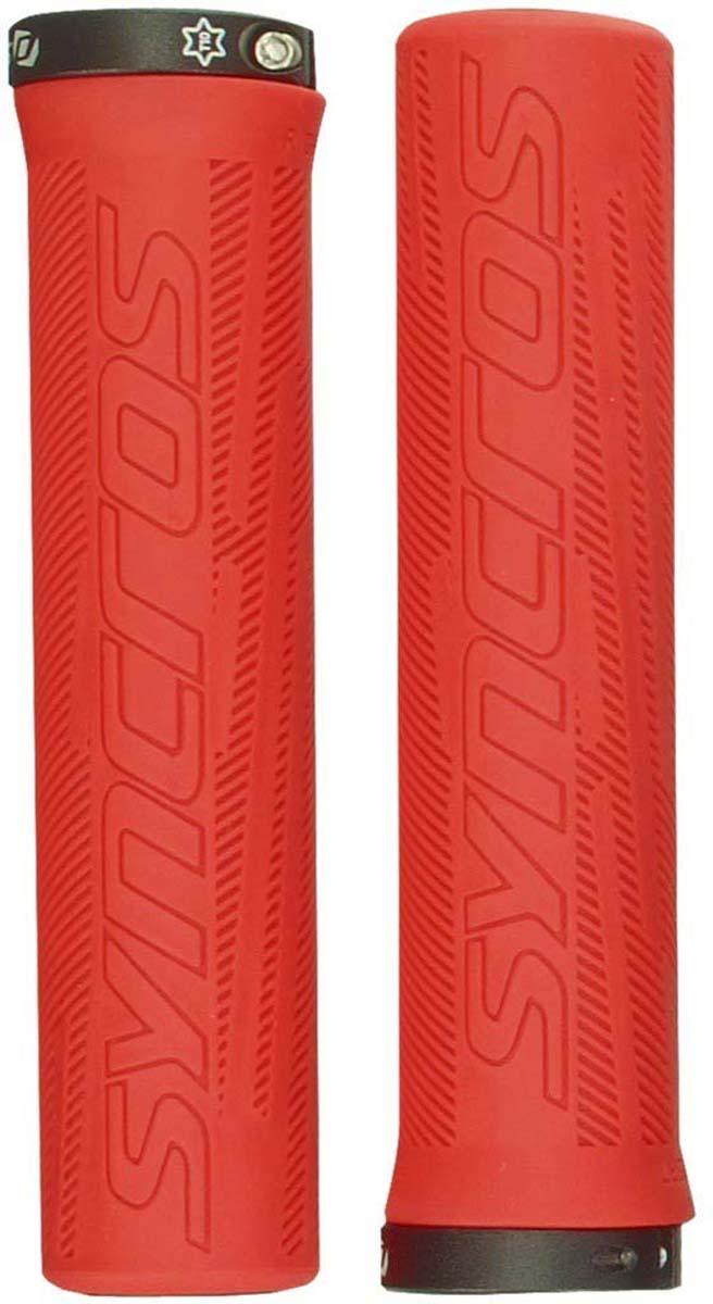 Грипсы Syncros Pro Lock-On, цвет: неоновый красный грипсы pro foam цвет черный 133 мм