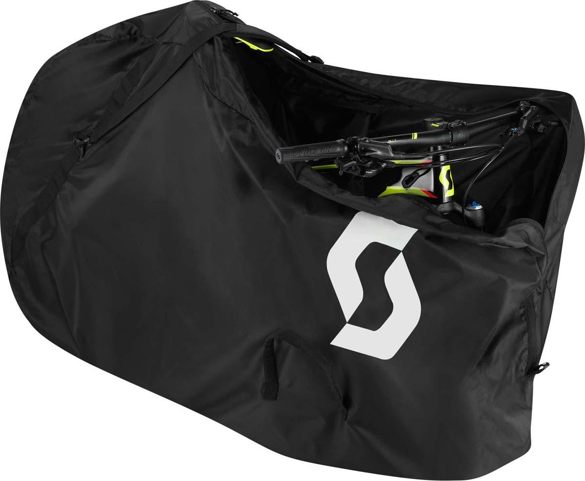 Чехол для велосипеда Scott Sleeve, цвет: черный264509-0001Обновленный супер-легкий Scott Sleeve поможет сохранить вашу машину или квартиру в чистоте, когда потребуется перевезти велосипед. Неважно, путешествуете ли вы на самолете, поезде или автомобиле, комфортные плечевые ремни и удобно расположенные ручки для переноски сделают погрузку и выгрузку велосипеда, упакованного в чехол простой и удобной задачей. Многофункциональная сумочка может служить как сумкой для сложенного чехла, так и небольшим чехлом для инструмента, или педалей во время путешествий. А если вы не используете чехол - он складывается до размеров 25 х 25 см.- Совместимость с велосипедами: шоссейные, триатлон, МТБ, XC-, FR-, 29'' Plus. - Сумка 25х25 см для переноски, когда вы не используете чехол.