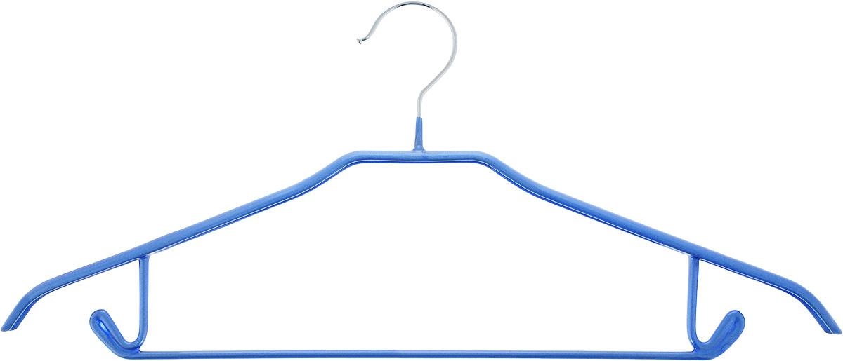 Вешалка для брюк Miolla, цвет: синий, длина 43 см2511046 TBВешалка для брюк Miolla выполнена из металла с покрытием синего цвета. Крючки вешалки прорезинены, что исключает случайное повреждение одежды. Вешалка Miolla станет практичным и полезным аксессуаром в вашем гардеробе.Длина: 43 см.