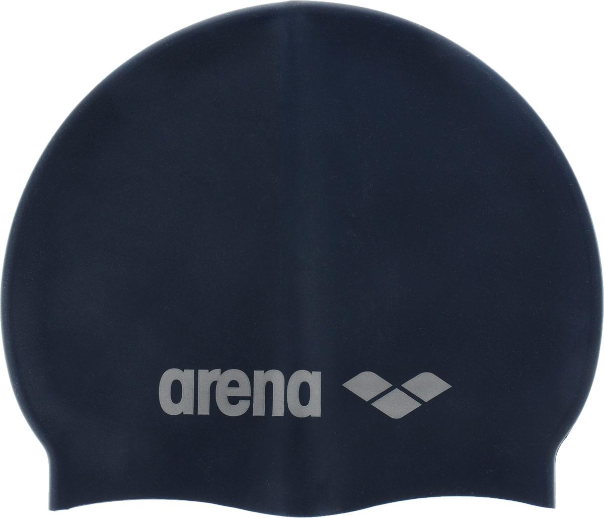Шапочка для плавания Arena Classic Silicone Cap, цвет:серебристый цена