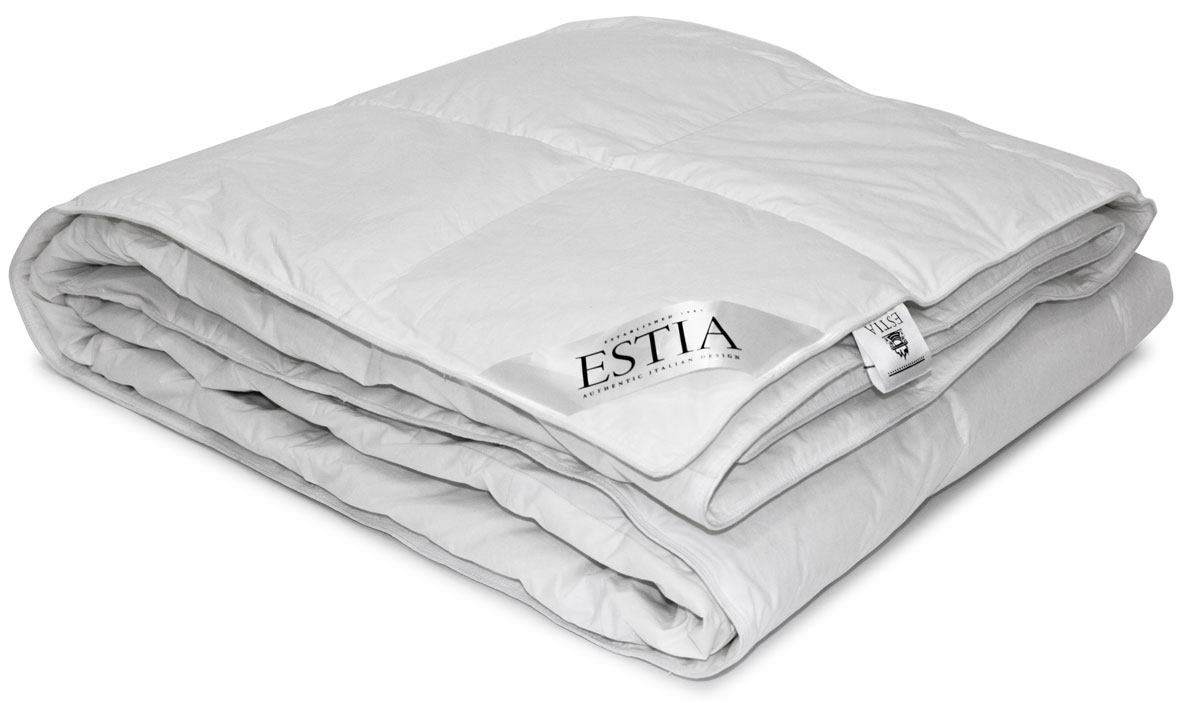 Одеяло среднее Estia  Аоста , наполнитель: пух, 200 х 210 см -  Одеяла