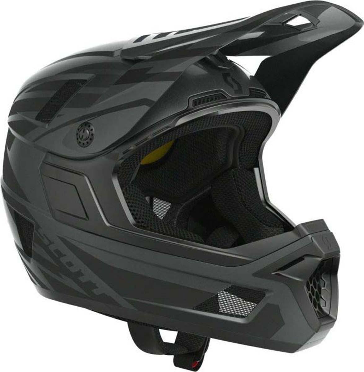 Шлем защитный Scott Nero Plus, цвет: черный. Размер M (57-58)265535-0001Nero PLUS - флагманский полнозащитный шлем, который идеально сочетает превосходную безопасность и отличную вентиляцию. Функции безопасности включают революционную систему защиты MIPS, улучшенную защиту от ударов в угловых ударах, безосколочный козырек и систему D-ring с большой нагрузкой. Массивные воздухозаборники на передней части шлема соединяются с глубокими каналами внутри корпуса шлема и 7 больших боковых и задних вентиляционных отверстий обеспечивают беспрецедентную вентиляцию.