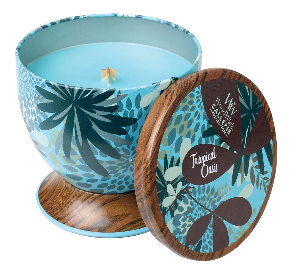 Аромат смеси тропических фруктов и кокоса. Ароматические свечи от WoodWick позволят вам почувствовать уютный комфорт пылающего камина в любом месте вашего дома, благодаря фитилю, сделанного из органического дерева. У свечи длинное танцующее пламя и успокаивающее потрескивание при горении. Изготовлена она из высококачественной соевой восковой смеси, которая равномерно сгорает и выделяет разные ароматы. Все свечи имеют металлическую упаковку и древесную крышку. Эти роскошно душистые свечи будут гореть примерно в течение 50 - 80 часов.