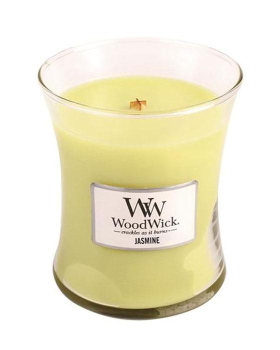 Свеча ароматизированная WoodWick Жасмин, высота 11 см свеча ароматизированная woodwick экзотические пряности тройная высота 11 см