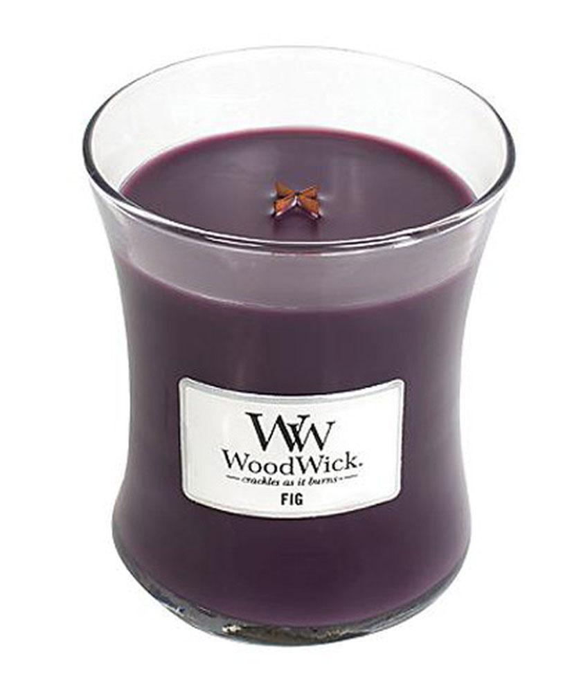 Свеча ароматизированная WoodWick Инжир, высота 11 см свеча ароматизированная woodwick гранат высота 6 см