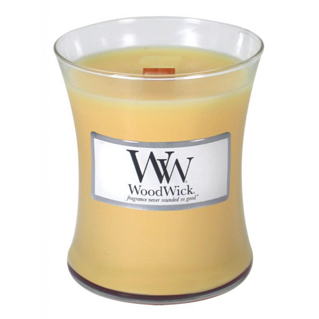 Свеча ароматизированная WoodWick Капкейк, высота 11 см свеча ароматизированная woodwick экзотические пряности тройная высота 11 см