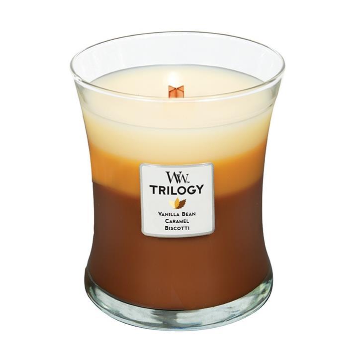 Свеча ароматизированная WoodWick Сладкий кофе, тройная, высота 11 см свеча ароматизированная woodwick экзотические пряности тройная высота 11 см