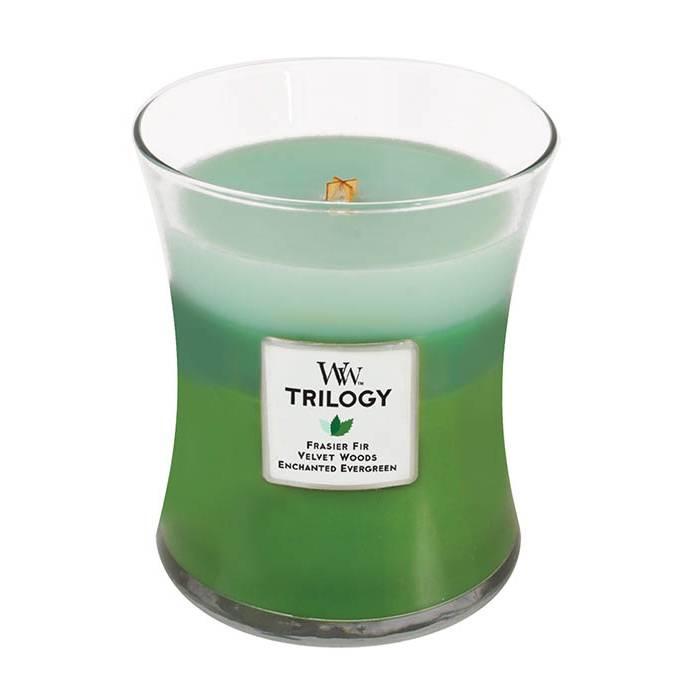 Свеча ароматизированная WoodWick Лесная прогулка, тройная, высота 11 см свеча ароматизированная woodwick экзотические пряности тройная высота 11 см