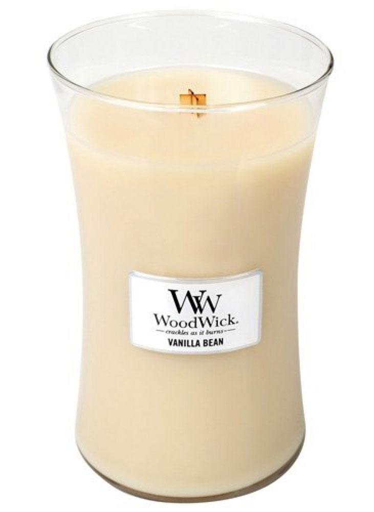 Свеча ароматизированная WoodWick Натуральная ваниль, высота 18 см свеча ароматизированная woodwick чай с корицей высота 9 5 см