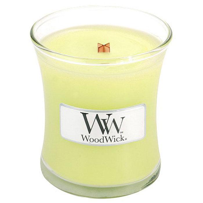 Свеча ароматизированная WoodWick Лемонграсс, маленькая, высота 6 см свеча ароматизированная woodwick гранат высота 6 см