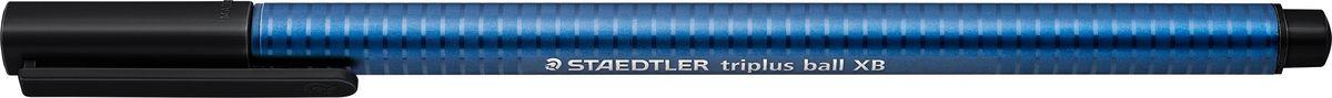Staedtler Шариковая ручка Triplus Ball цвет чернил черный437XB-9Шариковая трехгранная ручка triplus ball 437 серии. Цвет черный. Эргономичная форма для удобного и легкого письма. Цвет корпуса соответствует цвету чернил.Очень гладкое и легкое письмо за счет оптимального диаметра шарика (1,4 мм). Толщина линии XB (супертолстая) - приблизительно 0,7 мм.Безопасно для самолетов - автоматическое выравнивание давления предотвращает от вытекания чернил на борту самолета.