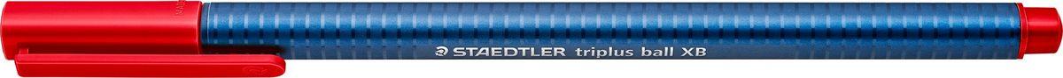 Шариковая трехгранная ручка triplus ball 437 серии. Цвет красный. Эргономичная форма для удобного и легкого письма. Цвет корпуса соответствует цвету чернил. Очень гладкое и легкое письмо за счет оптимального диаметра шарика (1,4 мм). Толщина линии XB (супертолстая) - приблизительно 0,7 мм. Безопасно для самолетов - автоматическое выравнивание давления предотвращает от вытекания чернил на борту самолета.