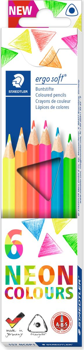 Staedtler Набор цветных карандашей Ergosoft 6 шт - Письменные принадлежности - Карандаши