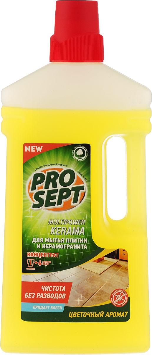 Средство Prosept Multipower для мытья плитки и керамогранита с цветочным ароматом, 1 л гель для мытья посуды prosept cooky apple концентрат с ароматом яблока 1 л