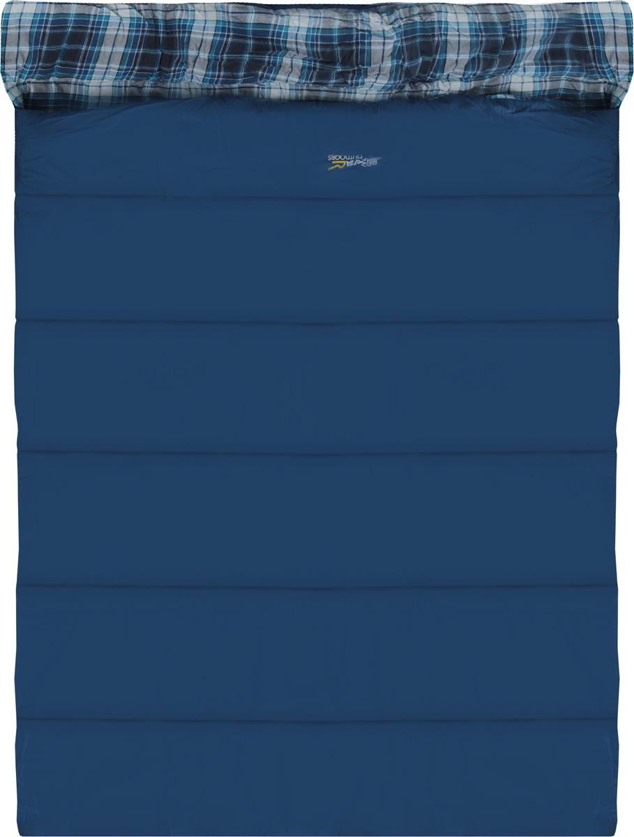 Мешок спальный Regatta Bienna Double, цвет: синий, левосторонняя молния, 200 x 150 см