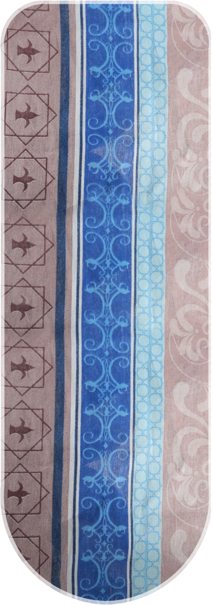 Чехол для гладильной доски Eva, цвет: коричневый, синий, голубой, 129 х 45 см платье eva milano цвет серый коричневый кремовый
