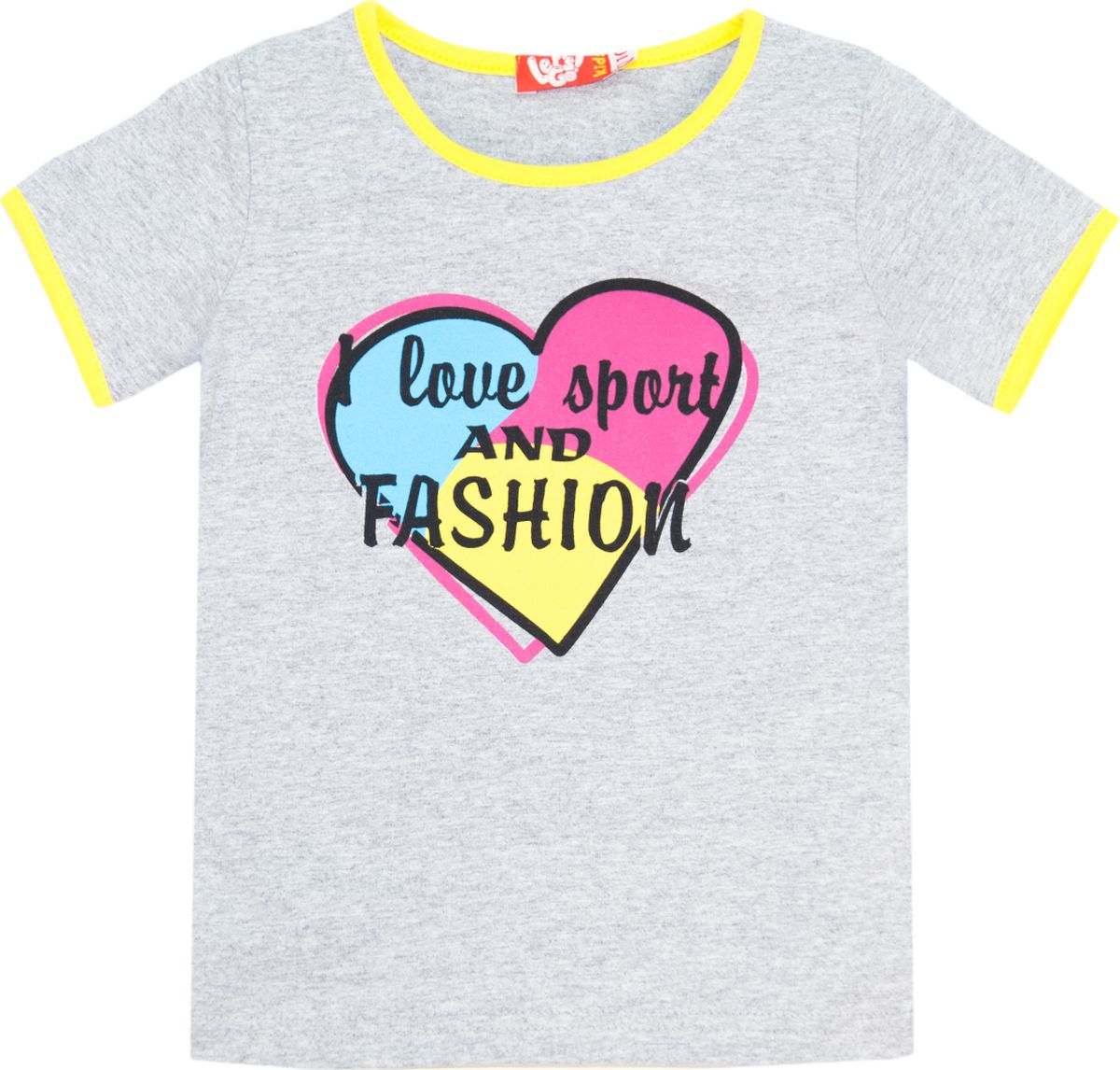 Футболка для девочки Let's Go, цвет: серый. 5146. Размер 98 спортивный костюм для девочки let s go цвет фиолетовый 11114 размер 164