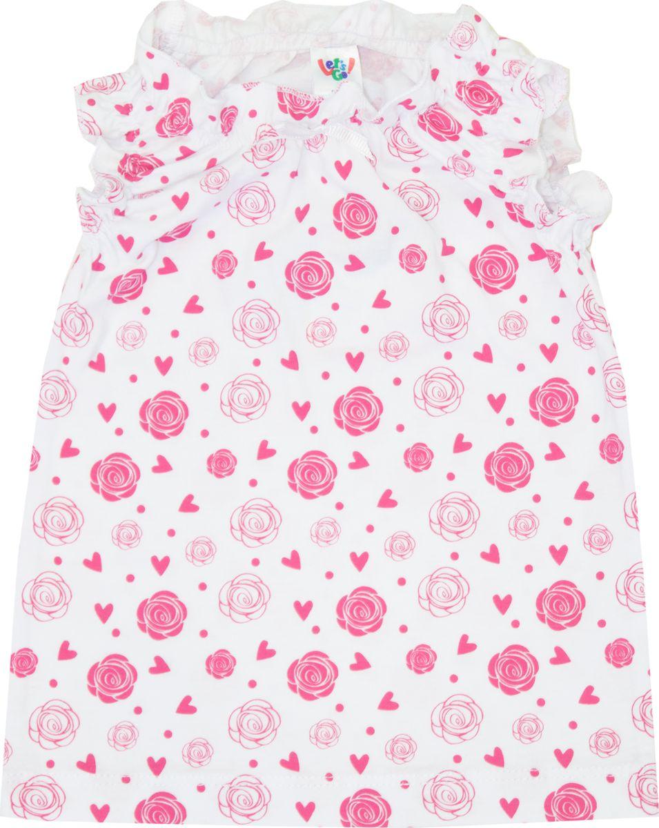 Майка для девочки Let's Go, цвет: малиновый. 2144. Размер 80 спортивный костюм для девочки let s go цвет фиолетовый 11114 размер 164