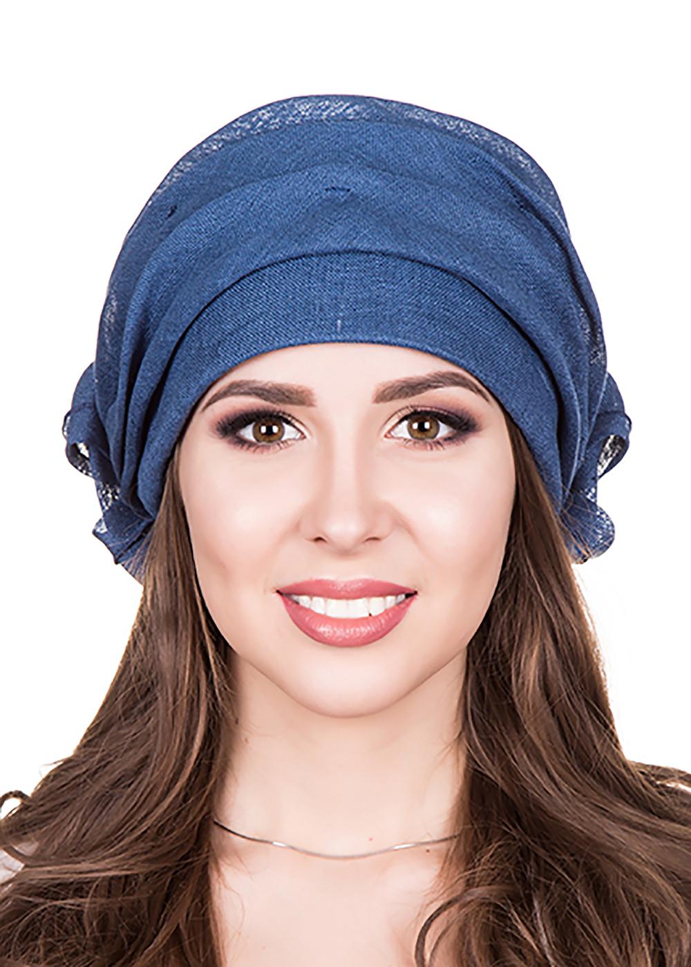 Бандана женская Level Pro Белла, цвет: синий. 412820. Размер 56/58 бандана 4fun 4fun thermal pro wolf blue синий