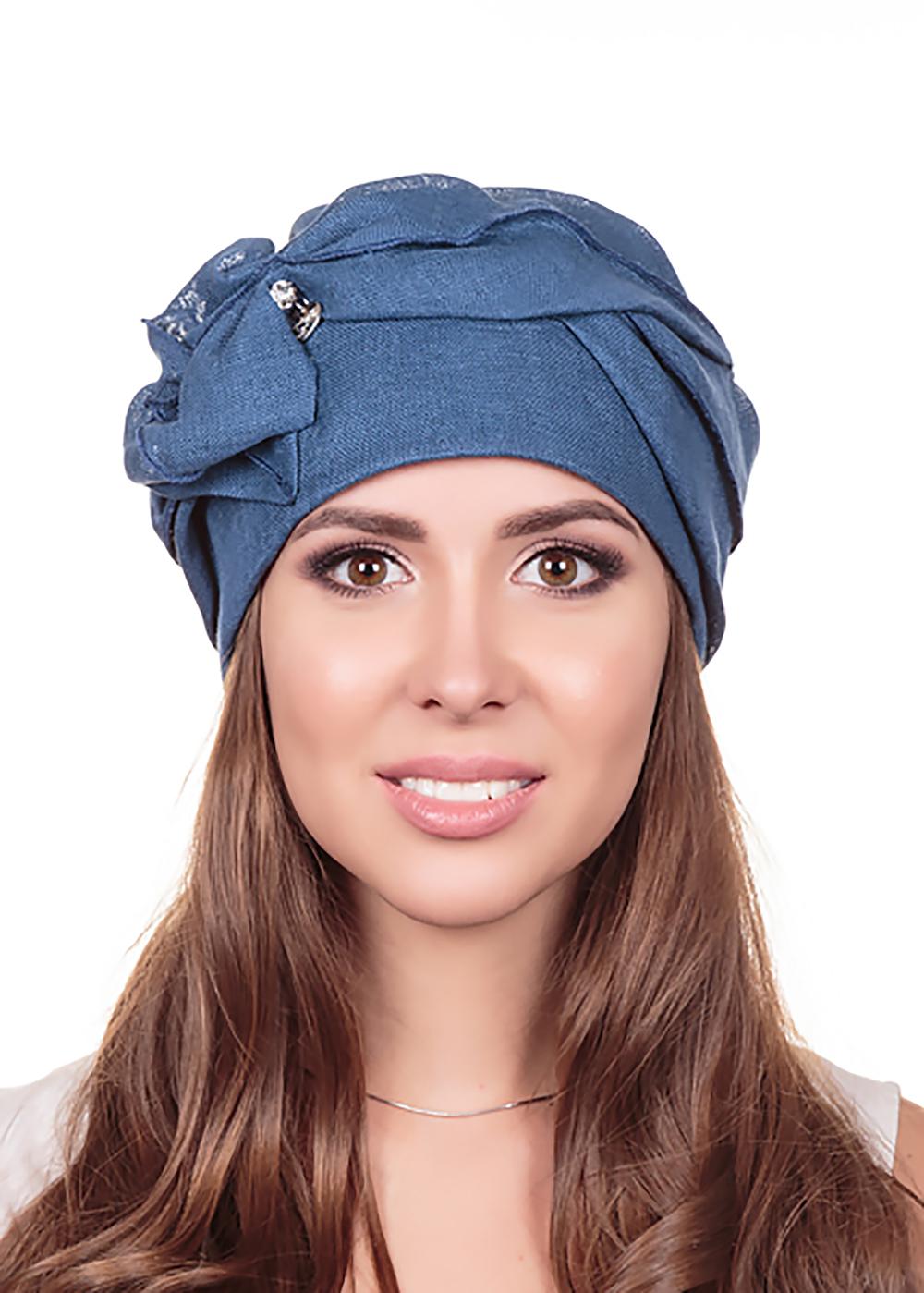 Бандана женская Level Pro Мэри, цвет: синий. 412637. Размер 56/58 бандана 4fun 4fun thermal pro wolf blue синий