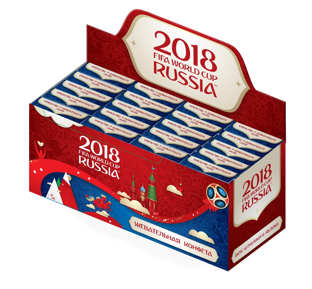 Конфитрейд FIFA кислые жевательные конфеты, 20 шт по 22 г конфеты jerry belly jelly belly 20 150g