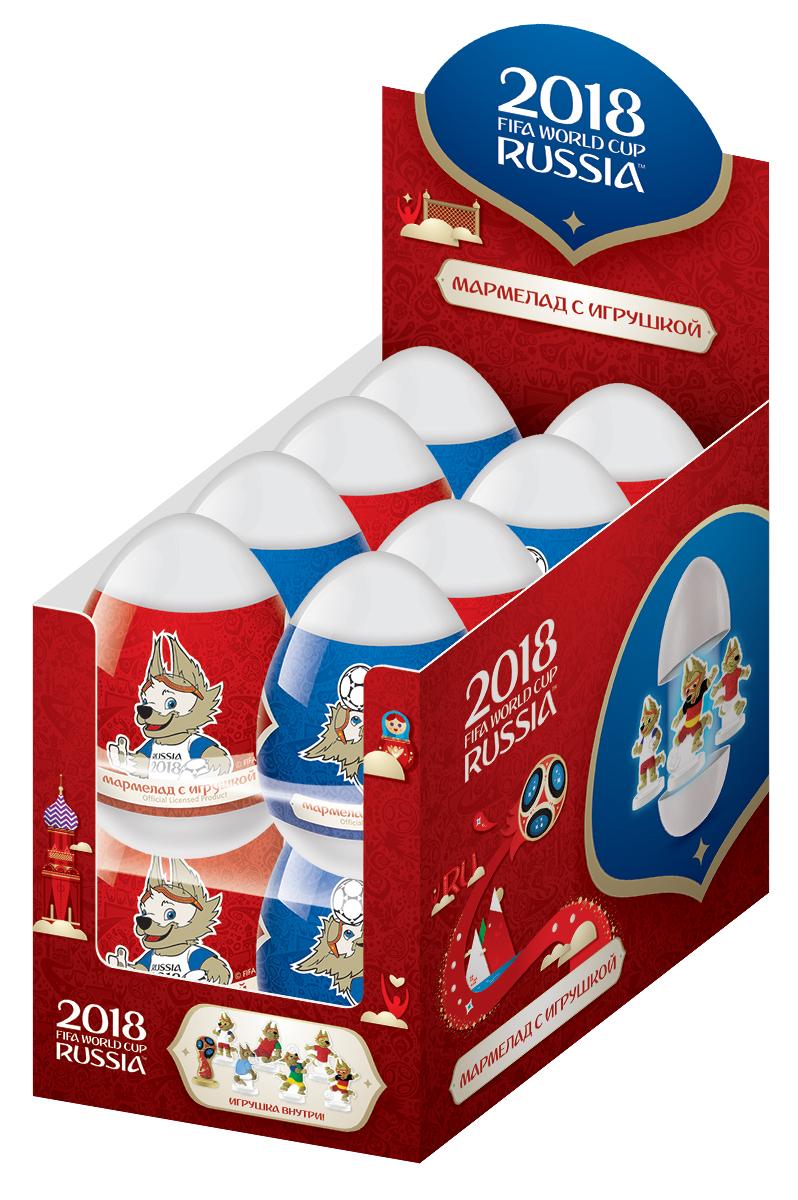 Конфитрейд FIFA мармелад в пластиковом яйце, 20 гУТ22583Пластиковое яйцо представляет собой капсулу, состоящую из 2 половинок. Капсула белого цвета. В капсулу вкладываются: 2D- игрушка без пакетика, лифлет, 20 г мармелада в прозрачном герметичном пищевом пакете.