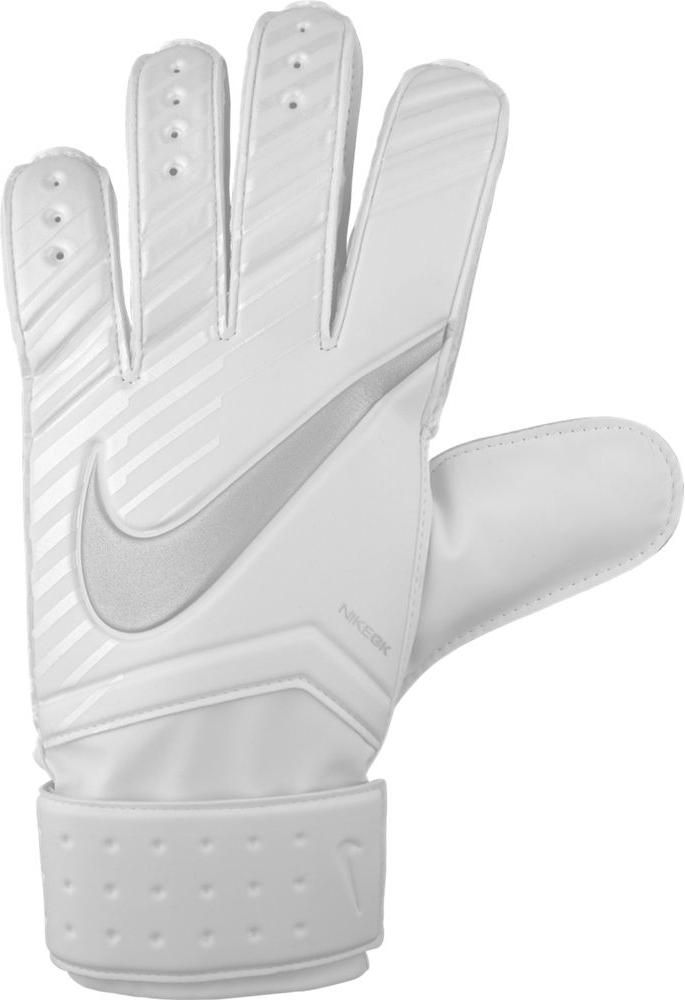 Unisex Nike Match Goalkeeper Football Gloves Футбольные перчатки унисекс Nike Match Goalkeeper смягчают нагрузку от удара мяча и обеспечивают оптимальный захват и контроль мяча в любых погодных условиях. Пеноматериал на основе латекса обеспечивает превосходное сцепление в любых условиях. Манжета с застежкой на липучке для регулируемой посадки. Перфорация в области пальцев усиливает вентиляцию. 4% ЛАТЕКС 3% ПОЛИУРЕТАН 19% EVA 11% НЕЙЛОН
