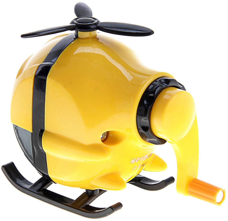 Точилка механическая с контейнером Вертолет цвет желтый 127694