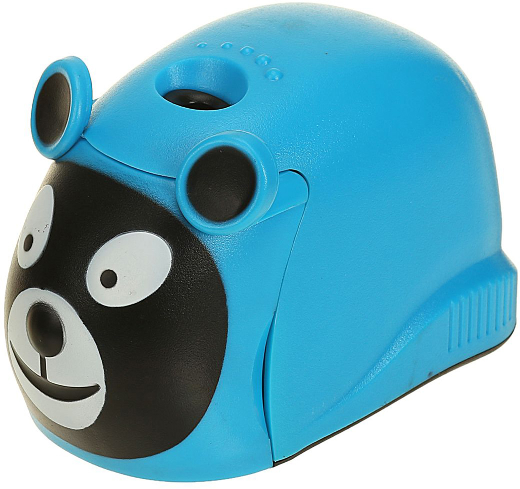 Точилка электрическая с контейнером цвет голубой 2404955 - Чертежные принадлежности