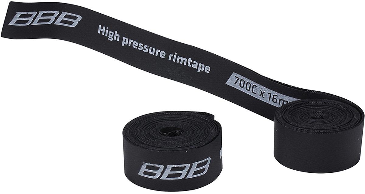 Лента защитная на обод BBB HP 700C , цвет: черный, 16 мм. 16-622
