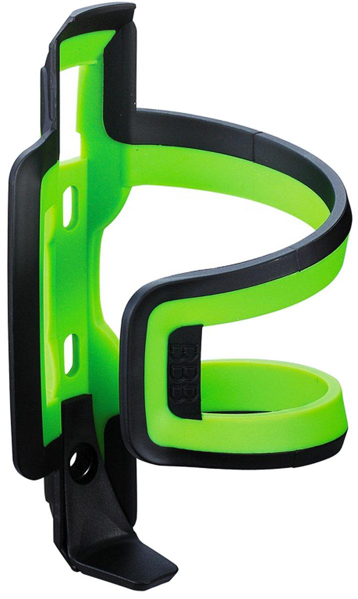 Флягодержатель BBB DualAttack, цвет: черный, зеленый