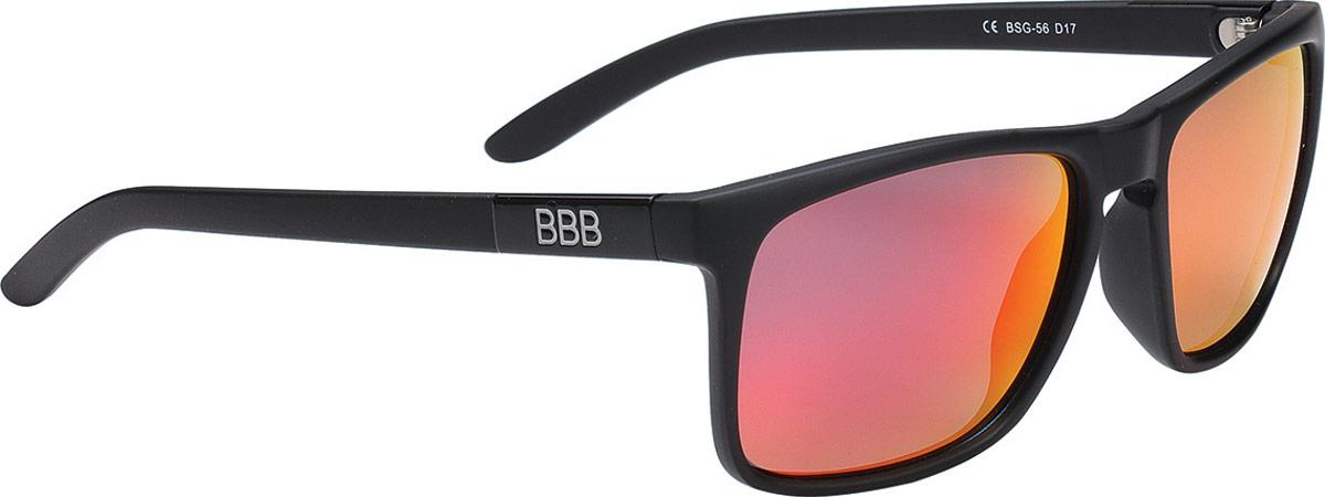 Очки солнцезащитные велосипедные BBB 2018 Town PZ PC MLC Red Polarised Lenses, цвет: черный матовый