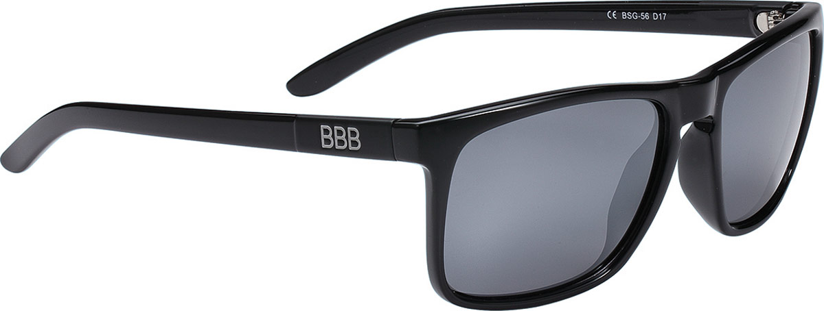 Очки солнцезащитные велосипедные BBB 2018 Town PZ PC Mirror Polarised Lenses, цвет: черный