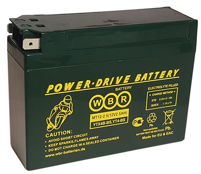 WBR MT12-2,5 аккумуляторная батарея для мотоцикла/квадроцикла