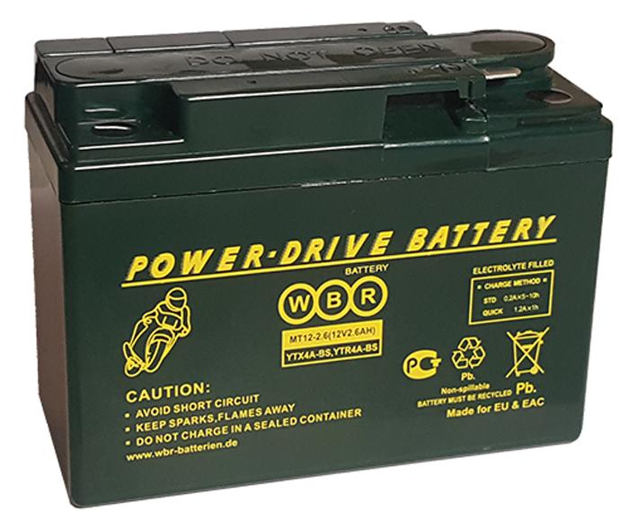 WBR MT12-2,6 аккумуляторная батарея для мотоцикла/квадроцикла